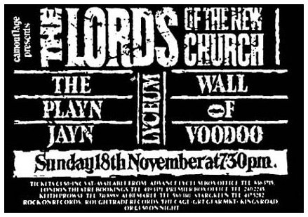 The Lords Of The New Church Live At The Lyceum London England